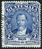 GUATEMALA - CIRCA 1926: A stamp printed in the Guatemala, shows Justo Rufino Barrios, circa 1926 — Stock Photo