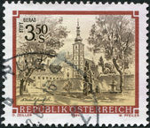 AUSTRIA - CIRCA 1984: A stamp printed in Austria, is shown Geras Abbey (Stift Geras), circa 1984 — Stock Photo
