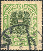 AUSTRIA - CIRCA 1921: A stamp printed in Austria, coat of arms, circa 1921 — Stock Photo