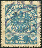 AUSTRIA - CIRCA 1920: A stamp printed in Austria, coat of arms, circa 1920 — Stock Photo