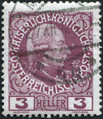 AUSTRIA - CIRCA 1908: A stamp printed in Austria, shows Joseph II, Holy Roman Emperor by Jakob Adam, circa 1908 — 图库照片