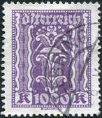 AUSTRIA - CIRCA 1923: A stamp printed in Austria, shows Symbols of Labor and Industry - hammer and pliers, circa 1923 — Stock Photo