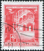 AUSTRIA - CIRCA 1962: A stamp printed in Austria, represented Schloss Porcia (Porcia Castle) in Spittal an der Drau, circa 1962 — Stock Photo