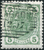 AUSTRIA - CIRCA 1905: A stamp printed in Austria, shows Franz Joseph I of Austria, circa 1905 — Stock Photo