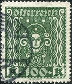 AUSTRIA - CIRCA 1922: A stamp printed in Austria, shows Symbols of Art and Science, circa 1922 — Stockfoto