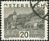 AUSTRIA - CIRCA 1929: A stamp printed in Austria, is shown Durnstein, circa 1929 — Stock Photo