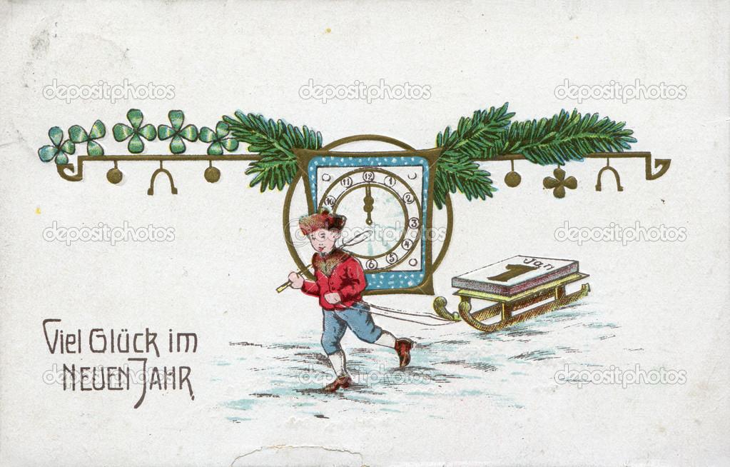 Немецкая открытка на немецком языке