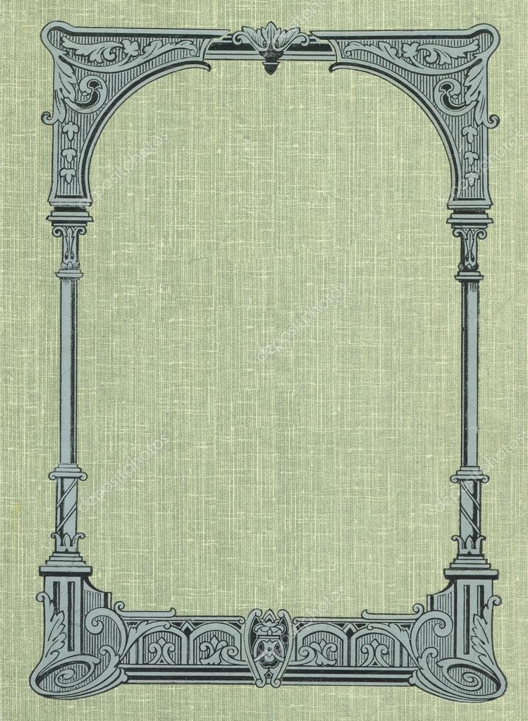 Beautiful Old Book Covers ~ Cover of an old book made cloth and a beautiful frame