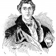 "Arthur Wellesley, 1st Duke of Wellington. old engraving by unknown author. Publication of book ""Century in text and pictures"", Berlin, Germany, 1899 — Vector de stock #12086832"