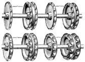 """Replacement wheels for agricultural machinery. Publication of the book """"Meyers Konversations-Lexikon"""", Volume 7, Leipzig, Germany, 1910 — Stock Vector"""