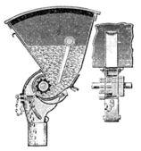 "The separator seed drill ""Miranda"". Publication of the book ""Meyers Konversations-Lexikon"", Volume 7, Leipzig, Germany, 1910 — Stock Vector"