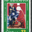 "A stamp printed in Bulgaria shows image of the ""Piano"" of Pablo Picaso, circa 1982 — Stock Photo"