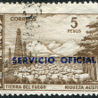 Stock Photo: Stamp printed in Argentina, shows Tierrdel Fuego Province and flock of sheep (overprint Servicio Oficial 1966), circ1959