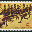 A stamp printed in the Bulgaria, devoted to The Chiprovtsi Uprising, circa 1988 - 图库照片