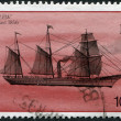 Stock Photo: Stamp printed in Bermuda, is depicted commercial steamer Curlew (steamboat), circ1986