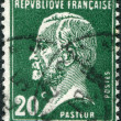 A stamp printed in France, depicts Louis Pasteur, circa 1926 - Foto Stock
