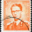 A stamp printed in Belgium, shows Baudouin I of Belgium, circa 1958 — Stock Photo