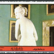 A stamp printed in the Ajman, depicted Sala di Venere, Palazzo Pitti in Florence, circa 1972 — Stock Photo