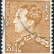 Постер, плакат: A stamp printed in Belgium shows Leopold III of Belgium circa 1951