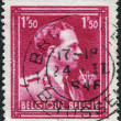A stamp printed in Belgium, shows Leopold III of Belgium, circa 1944 — Stock Photo