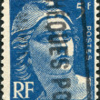 A stamp printed in France, depicts Marianne is a national emblem of France, circa 1947 - Stock Photo