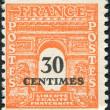A stamp printed in France, depicts the Arc de Triomphe in Paris, circa 1945 — Stock Photo #12162300