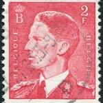 A stamp printed in Belgium, shows Baudouin I of Belgium, circa 1952 — Stock Photo #12162308