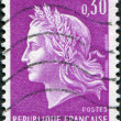 A stamp printed in France, depicts Marianne (by Cheffer) is a national emblem of France, circa 1967 - Stock Photo