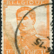 A stamp printed in Belgium, shows Albert I of Belgium, circa 1912 — Stock Photo