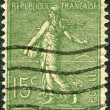 A stamp printed in France, depicts a sower, circa 1903 — Stock Photo