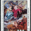 "A stamp printed in the Republic of Upper Volta, shows a painted picture of Rubens ""The history of Maria de Medici"", circa 1977 - Stock Photo"
