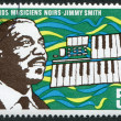 A stamp printed in the Republic of Upper Volta, is devoted to jazz musician Jimmy Smith, circa 1972 — Stock Photo