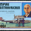 "A stamp printed in the The Central African Empire, is dedicated to Roald Amundsen, shows a flying boat, ""Dornier Do J"" — Stok fotoğraf"
