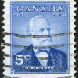 Postage stamps printed in Canada, depicts Sir Mackenzie Bowell, circa 1954 — Stock Photo