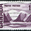 "Postage stamps printed in Canada, shows a picture of ""Bylot Island"" by Lawren Harris, circa 1967 — Stock Photo"