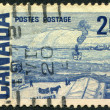 Postage stamps printed in Canada, shows a picture of &amp;quot;The Ferry, Quebec&amp;quot; by James Wilson Morrice, circa 1967 - Stock Photo