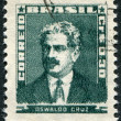 Stock Photo: Postage stamps printed in Brazil, depicted Oswaldo Cruz, circ1954