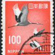 A stamp printed in Japan, shows a Red-crowned Crane (Grus japonensis), circa 1968 - Stock Photo