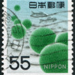 A stamp printed in Japan, depicts the alga Cladophora Sauteri, circa 1969 - Stock Photo