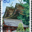 Stock Photo: Stamp printed in Japan, Prefecture Okayama, shows Kibitsu Shrine, circ2003