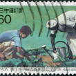Stock Photo: Stamp printed in Japan, dedicated to 20th anniversary of Japanese Overseas Cooperation Volunteers, circ1985