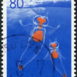 Stock Photo: Stamp printed in Japan, prefecture Hokkaido, shows Clione Limancia, circ1996