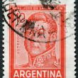 A stamp printed in the Argentina, shows a national hero, Jose de San Martin, circa 1966 — Stock Photo