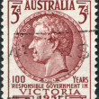 Royalty-Free Stock Photo: A stamp printed in Australia, shows Charles Joseph La Trobe, circa 1951