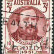 Royalty-Free Stock Photo: A stamp printed in Australia, shows Edward Hammond Hargraves, circa 1951
