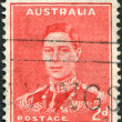 Royalty-Free Stock Photo: A stamp printed in Australia, depicts King George VI, circa 1938