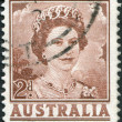 Royalty-Free Stock Photo: A stamp printed in Australia, shows Queen Elizabeth II, circa 1962