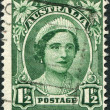 A stamp printed in Australia, shows the Queen Elizabeth The Queen Mother, circa 1942 — Stock Photo