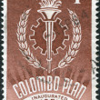 A stamp printed in Australia, dedicated to 10th anniversary of the Colombo Plan, shows the Emblem, circa 1961 — Stock Photo