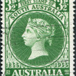 A stamp printed in Australia, the first postage stamp dedicated to South Australia, shows the Queen Victoria, circa 1955 - Stock Photo
